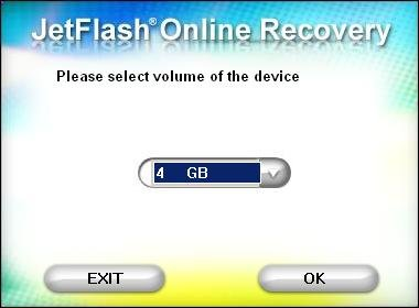 Exit OnlineRecovery V15.