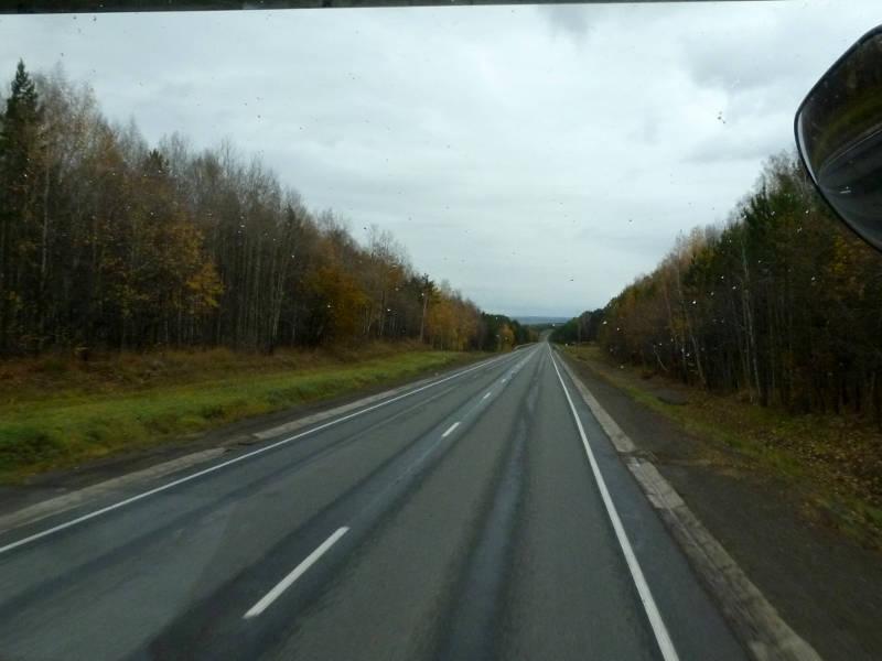 """20191008. Почти везде на трассе """"Сибирь"""" как минимум хорошее дорожное покрытие."""