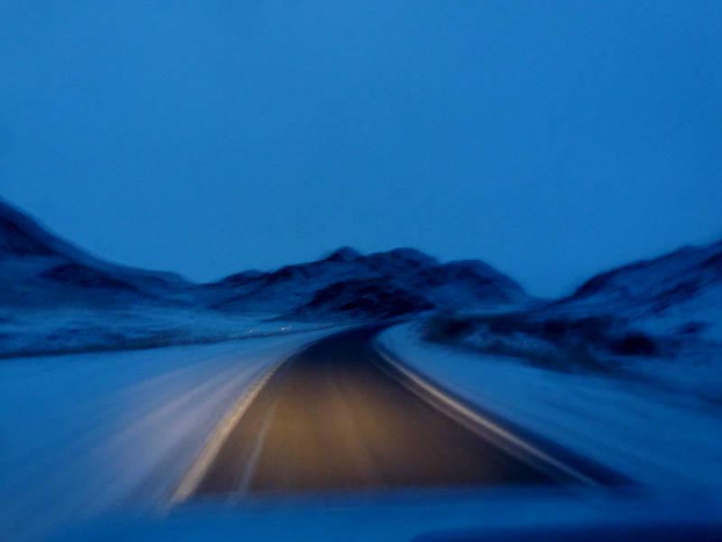 20191115. На ночной дороге в предгорьях Западного Саяна.
