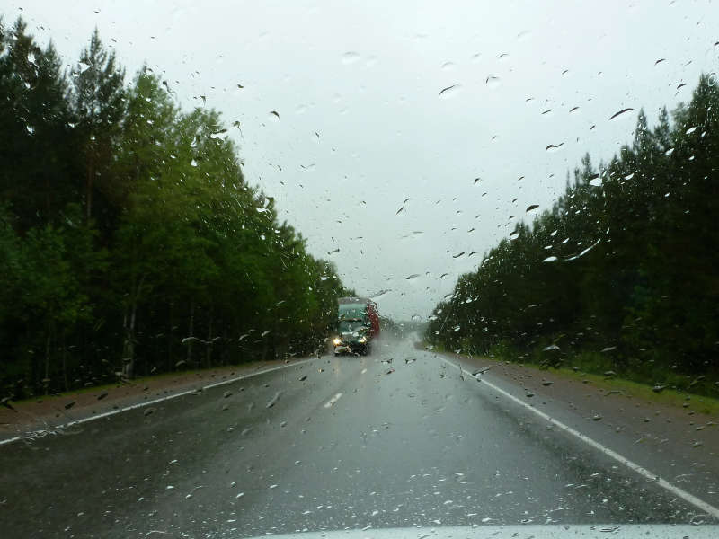 """20200531. На автодороге Р-255 """"Сибирь"""", в районе городка Кедровый."""