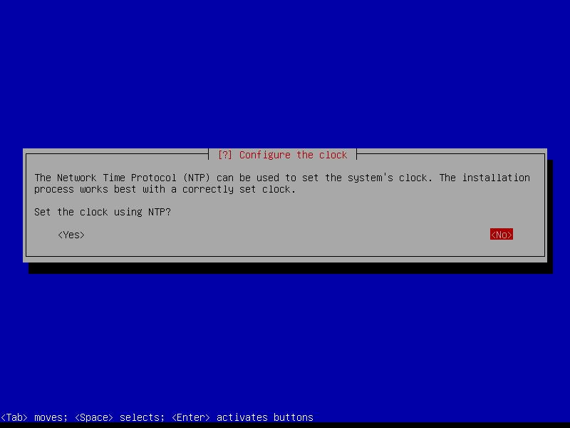 Squeeze: отказываемся от настройки получения данных времени по протоколу NTP.