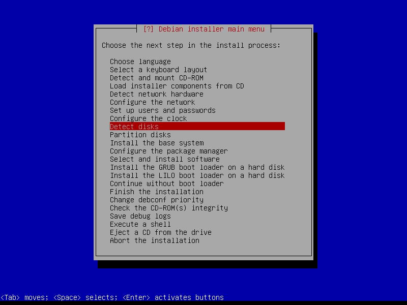 Squeeze: этап детектирования дисковых устройств.