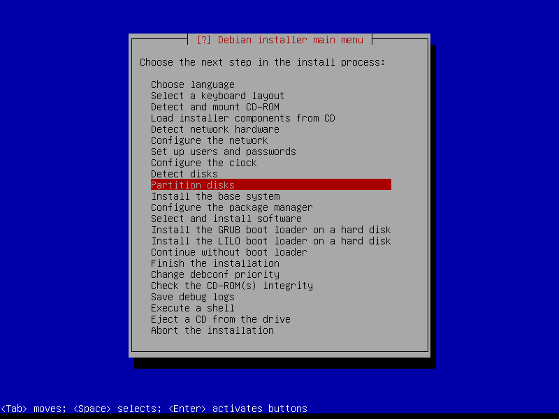 Squeeze: этап подготовки дисковых устройств к дальнейшей разметке.
