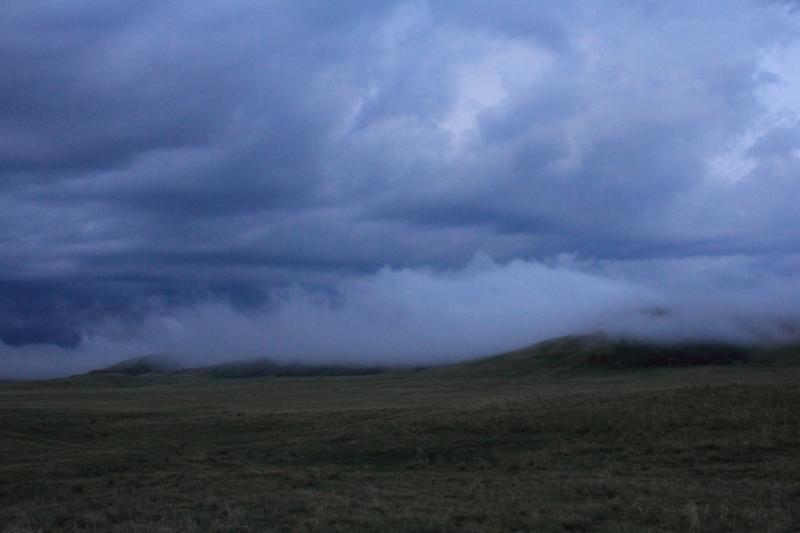 20120701. Баймен-2012: утро в горах у Байменского водохранилища.