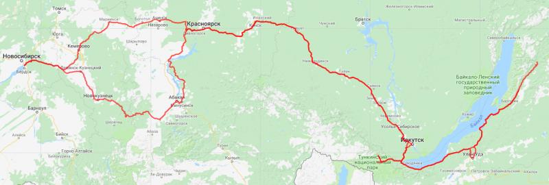 20180630. Нитка маршрута на топографической карте (maps.google.com).