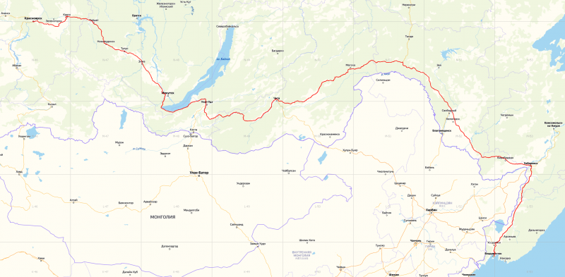 20191022. Нитка маршрута на топографической карте (maps.yandex.ru).