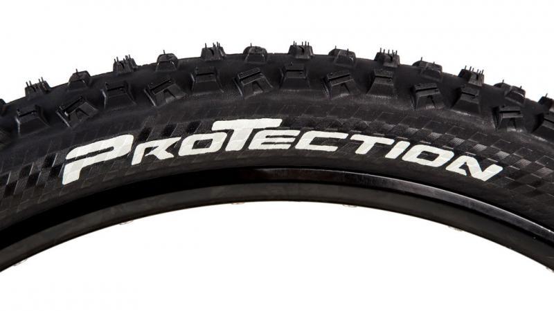 """Велосипедная покрышка """"Continental Mountain King II ProTection Foldable"""": эмблема технологии защиты боковой поверхности от порывов."""