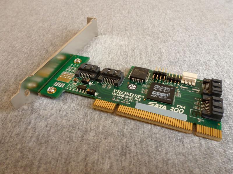 "SATA-контроллер ""Promise SATA-300 TX4"": общий вид сверху."