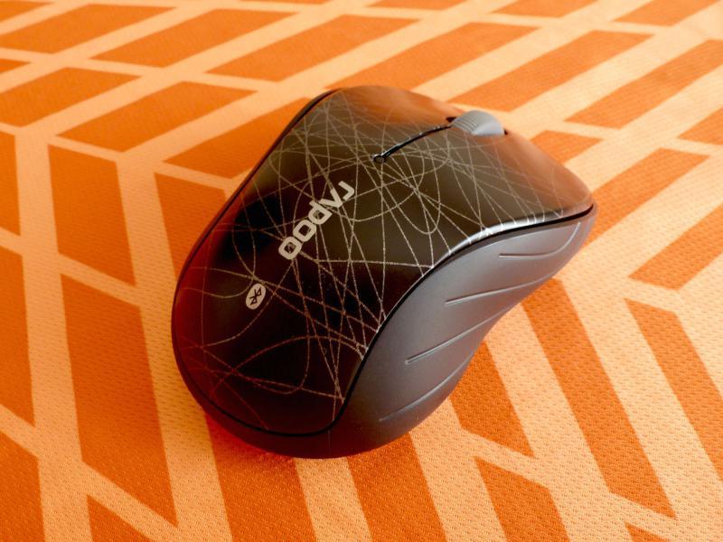 """Беспроводная мышь """"Rapoo 6080 Black Bluetooth"""": вид сзади."""