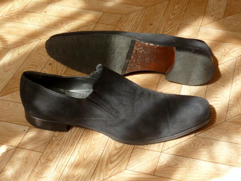 """Мужские демисезонные замшевые туфли """"Lancaster"""": общий вид."""