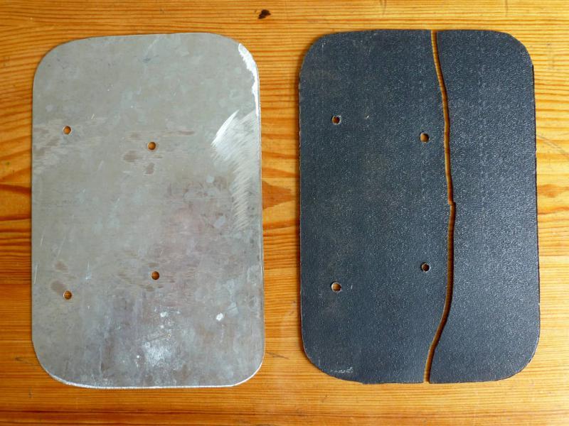 """Бокс-сумка """"Vaude Road I Handlebar"""": замена сломанной пластины задней стенки."""