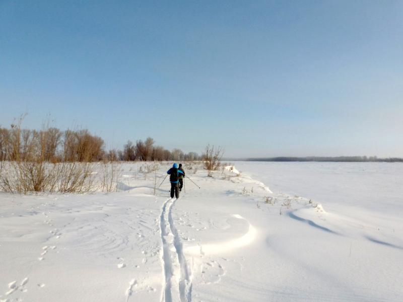 20170218. На левом берегу реки Иртыш неподалеку от города Аксу.