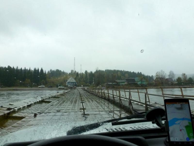 20170924. На майзаском понтонном мосту через реку Томь.