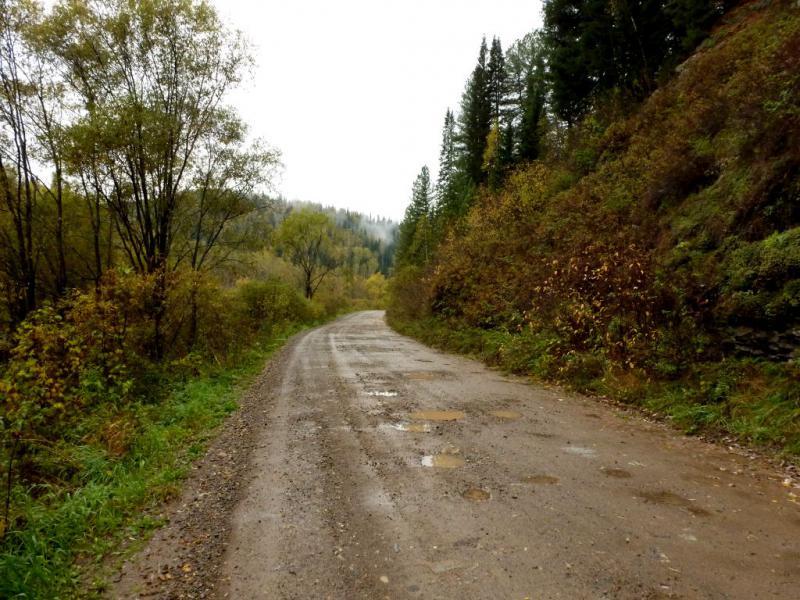 20170924. Гравийная грейдерная дорога 32H-486 из посёлка Майзас в Ортон.
