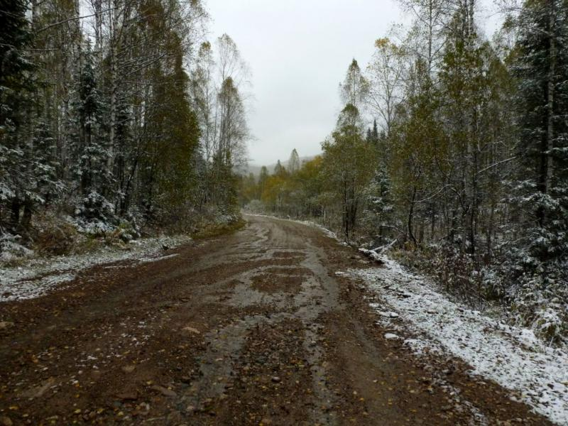 20170924. На дороге, непрерывно поднимающейся через леса от Майзаса к первому одноимённому перевалу.