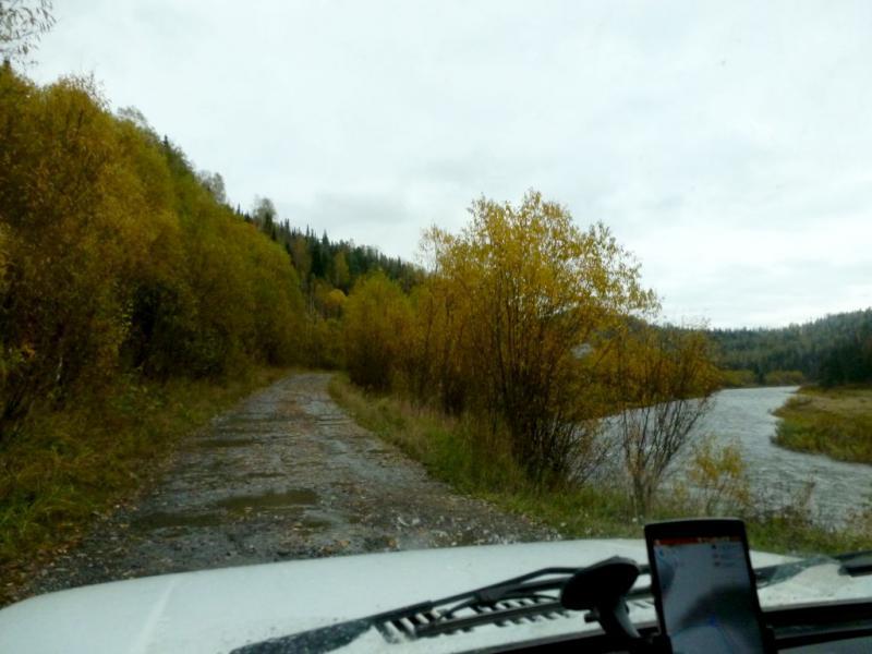 20170924. В начале сложно-проходимого участка горной дороги между Ортоном и Вершиной Теи.