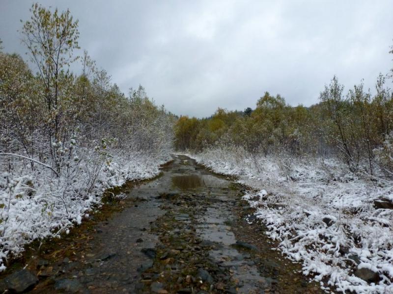 20170925. Подъём на один из водоразделов системы притоков реки Ортон, гору Кадетугей.
