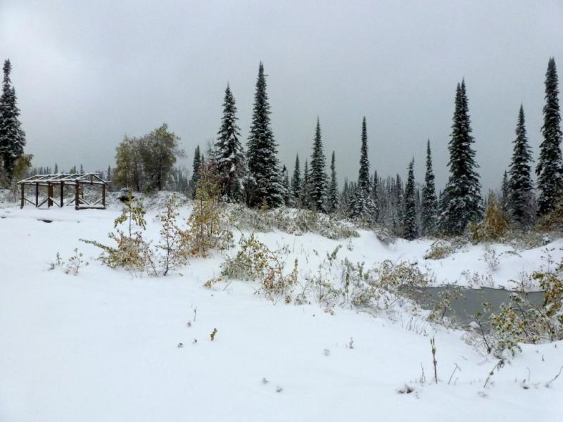 20170925. На засыпанном снегом перевале Изыгаш.