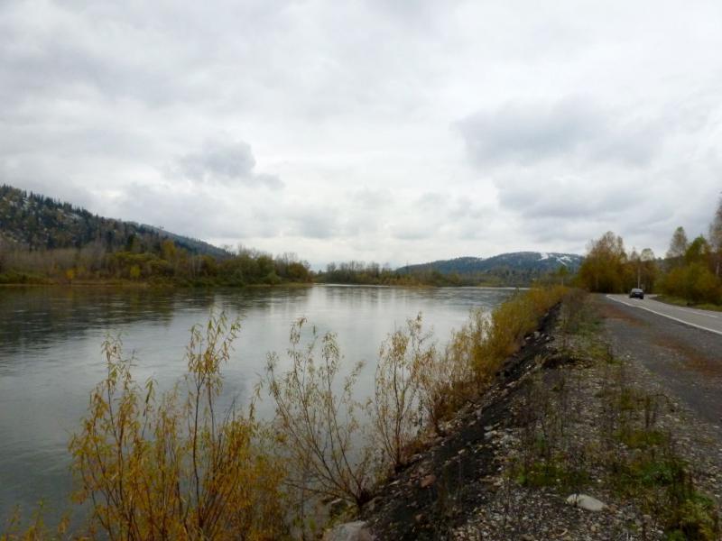 20170925. Вид на реку Томь с дороги неподалеку от Междуреченска.