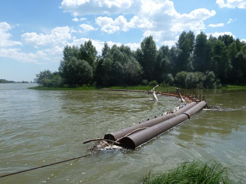20110618. Защита протоки от плавника.