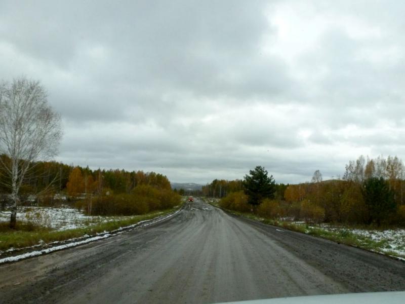 20170926. Грунтовая дорога в северо-восточных отрогах Кузнецкого Алатау, под селом Тамбар.