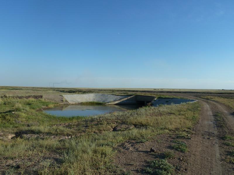 20110806. Павлодар-Астана. Мост через Щидертинский канал.