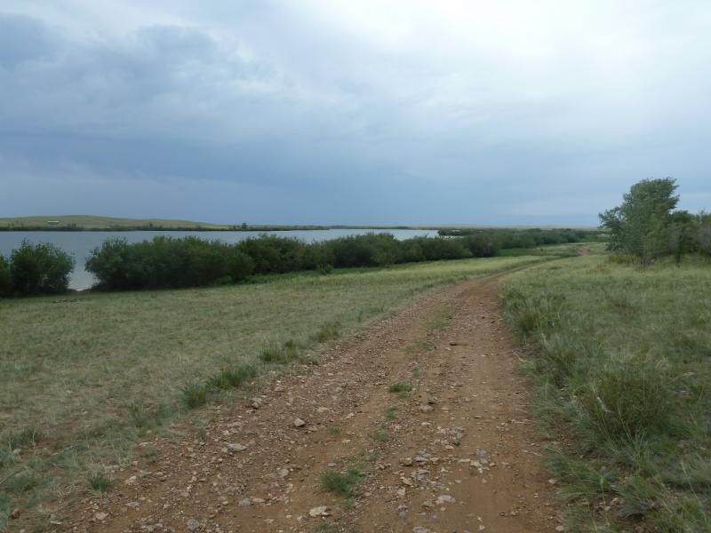 20110807. Павлодар-Астана. Левая сторона Щидертинского водохранилища.