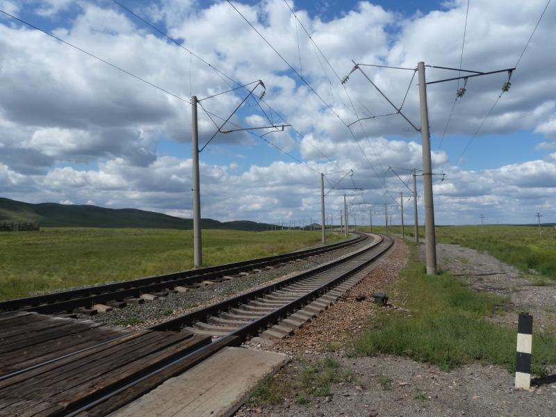 20110808. Павлодар-Астана. Железная дорога на посёлок Ерментау.