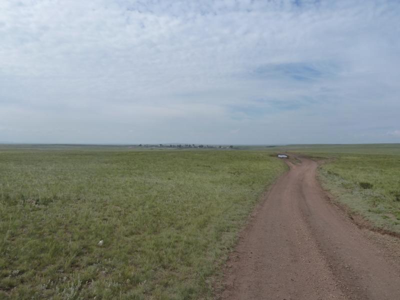 20110809. Павлодар-Астана. Дорога на село Ельтай.