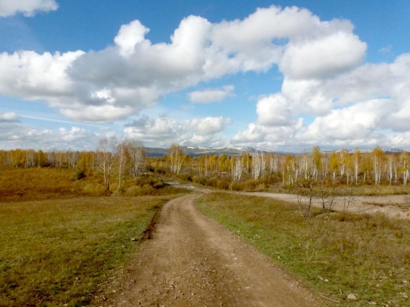 20170927. В долине речки Белый Июс, южнее горной мини-гряды Сундуки.