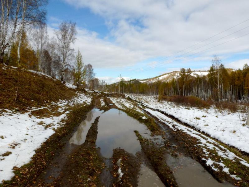 20170927. Типичная горно-полевая дорога Батеневского кряжа.