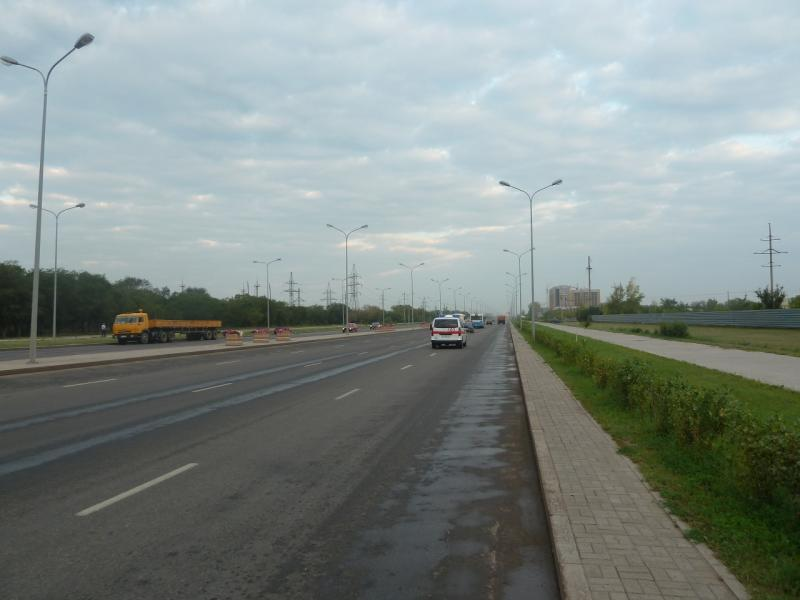 20110816. Астана-Боровое. Астраханская трасса утром.