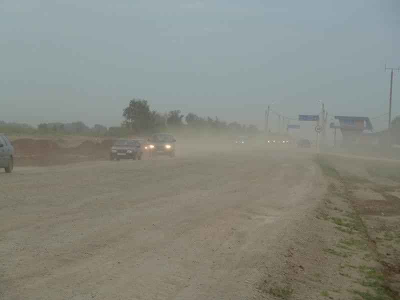 20110816. Астана-Боровое. Обновляют покрытие на астраханской трассе в Астане.