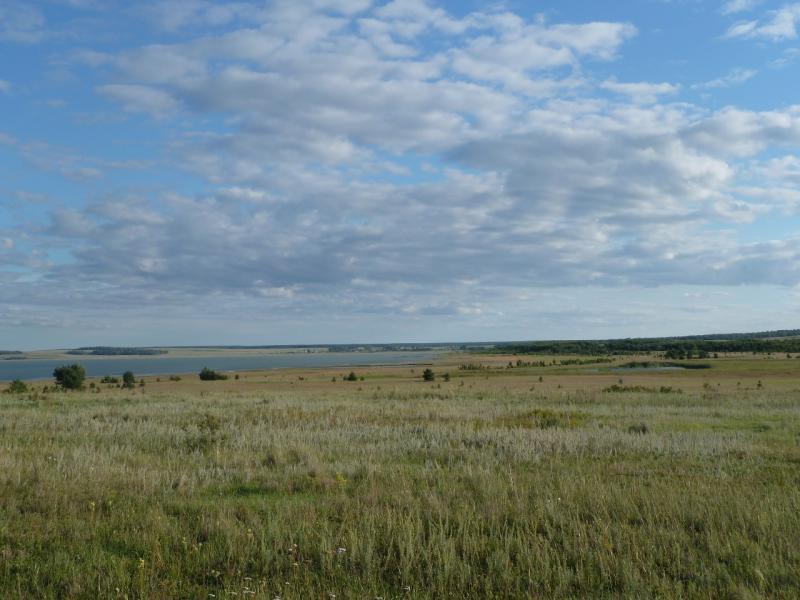 20110818. Астана-Боровое. Вид западного берега солёного озера Жукей.