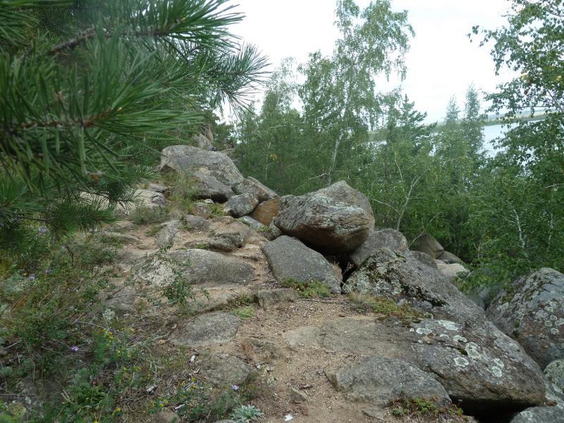 20110820. Боровое. Тропа вдоль залива на юго-западной стороне озера Большое Чебачье.