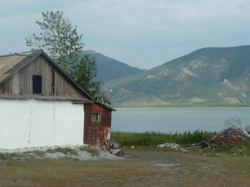 20110820. Боровое. Домик в Дорофеевке, на берегу озера Малое Чебачье.