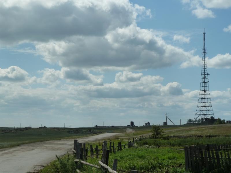 20110822. Боровое-Павлодар. Антенна на высотке около посёлка Степняк.