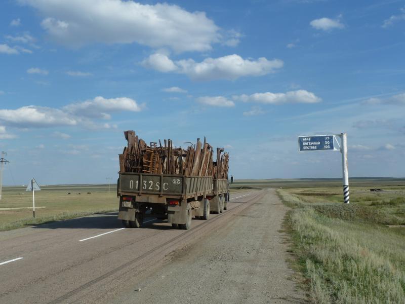 20110822. Боровое-Павлодар. Выезд с села Черняховское.