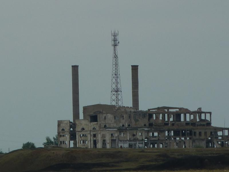 20110823. Боровое-Павлодар. Богембай, как он виден с дороги на Бестобе.