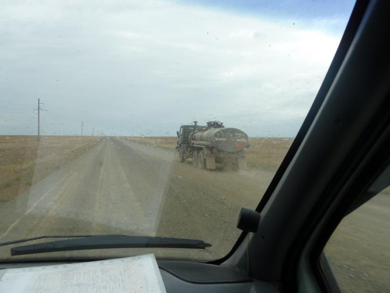 20110823. Боровое-Павлодар. И так возят всё в Бестобе, по ужасной дороге.