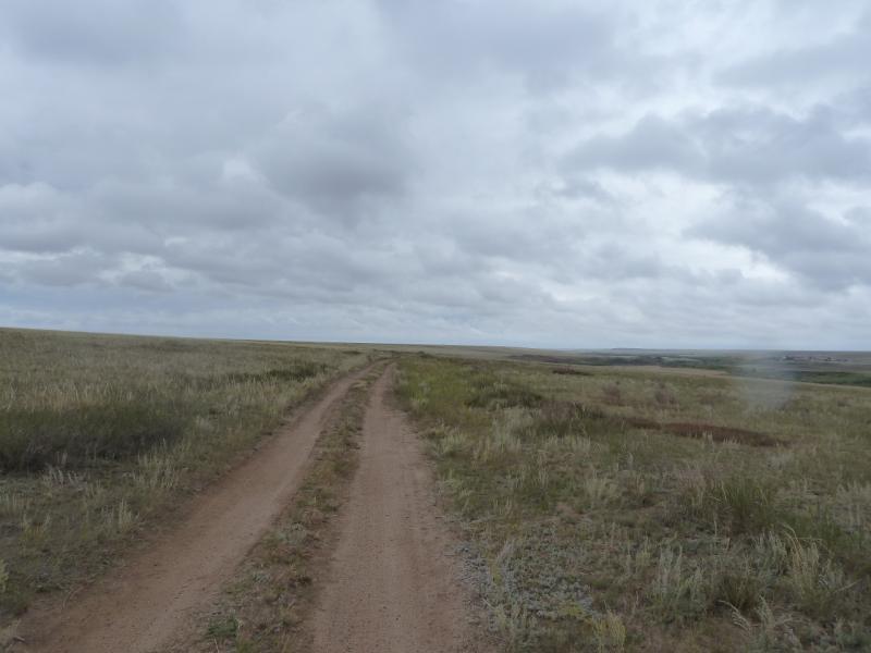 20110823. Боровое-Павлодар. Степная дорога вдоль реки Силети вниз по течению от села Изобильное.
