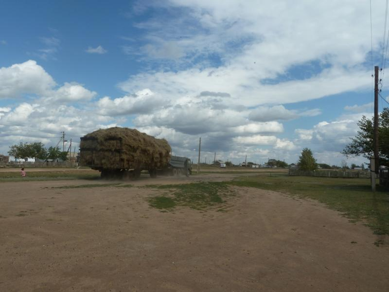 20110824. Боровое-Павлодар. Въезжаю в село Каратал.