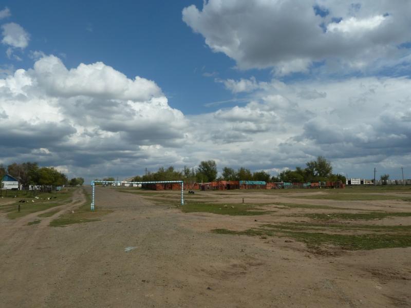 20110824. Боровое-Павлодар. Въезжаю в село Чапаевское.