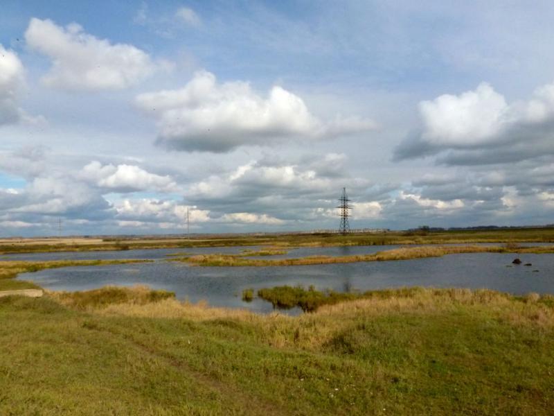 20170930. Вид на болота обширного урочища Мочаги, севернее рек Дудет и Урюп.