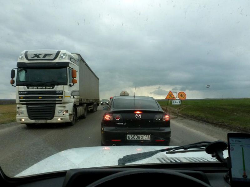 20170930. На трассе P-255, в пути от Мариинска к Кемерово.