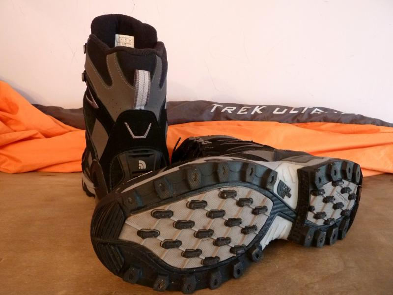 The North Face (45 size): Foot in front.