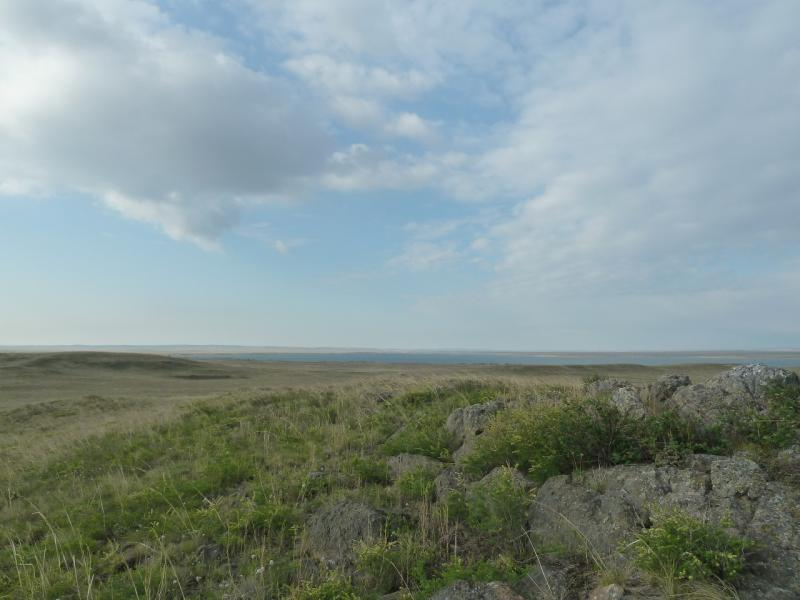 20120506. Канал Иртыш-Караганда: вид на водохранилище гидроузла #3.