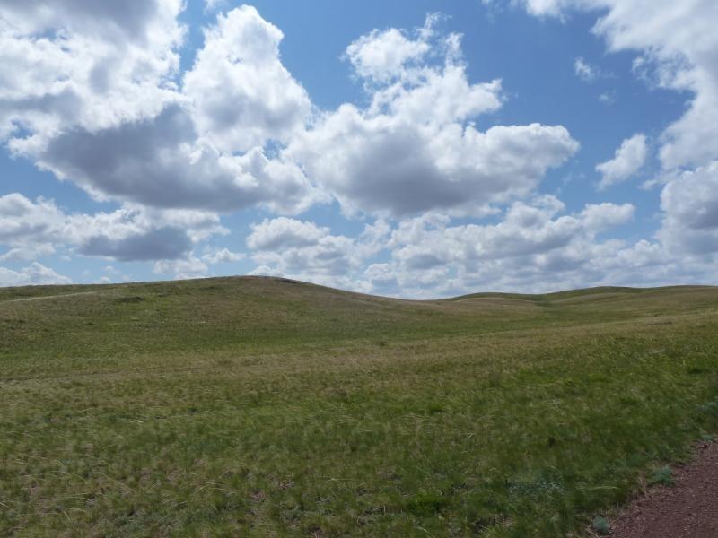 20120506. Канал Иртыш-Караганда: вид на юг у перевала.