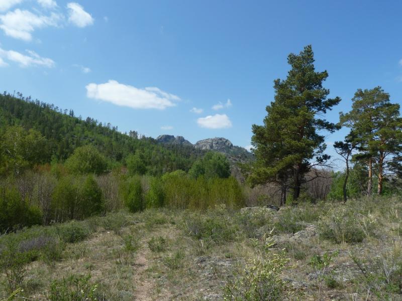 20120509. Ущельями Баянаула: тропа в юго-восточной части долины Жамбак.