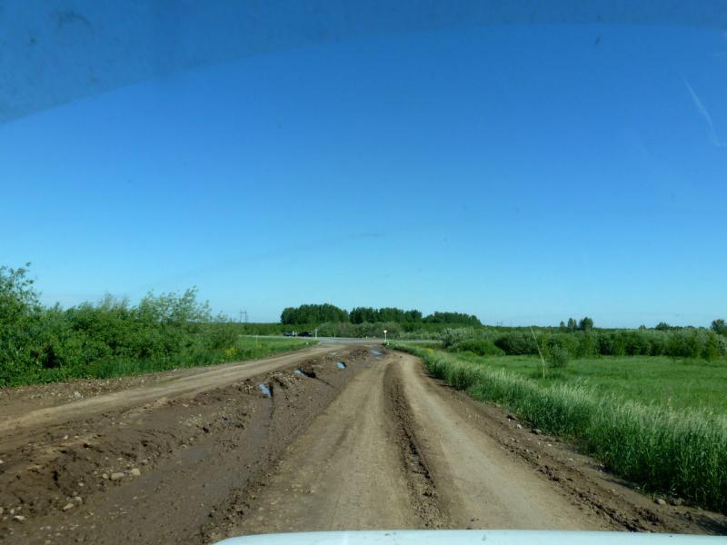 20180620. Выезжаем с будущей прямой кольцовской дороги на новокузнецкую трассу.
